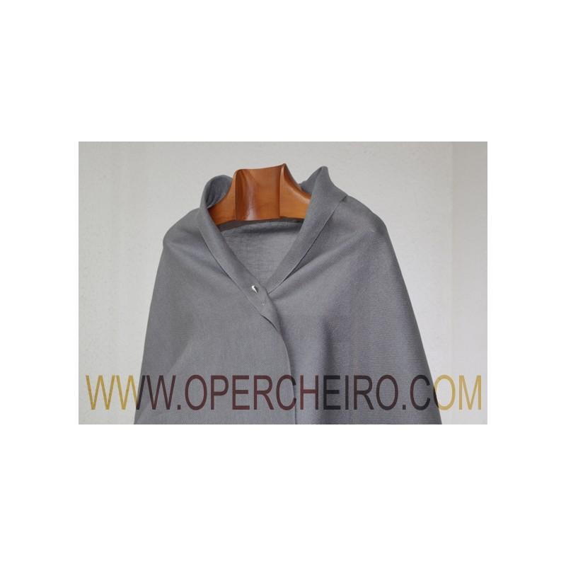 Chal tafetán gris aceiro ref.023/2