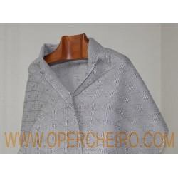 Fular gris perla+gris aceiro 061/2+023/2 diseño 6
