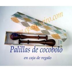 10 Caja regalo Palillas Cocobolo