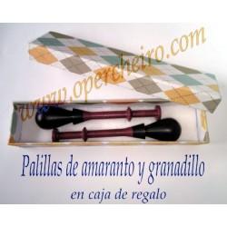 08 Caja regalo Palillas Amaranto y Granadillo