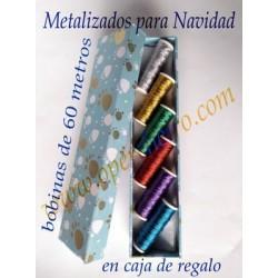 05 Caja regalo hilos metalizados