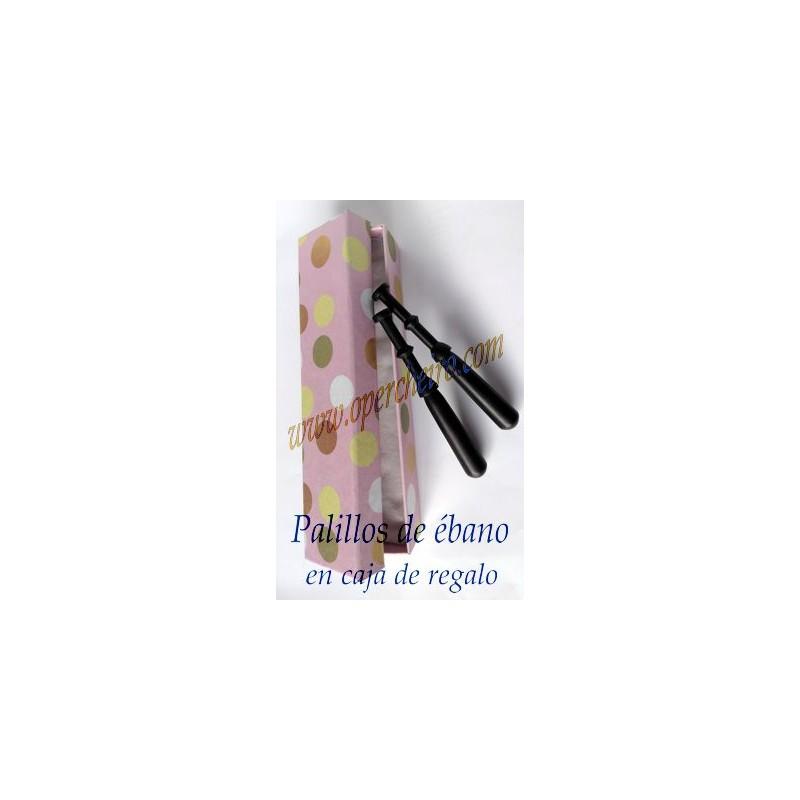 02 Caja regalo palillos de ébano