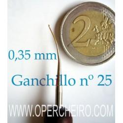 Ganchillo curvo 0,35 mm