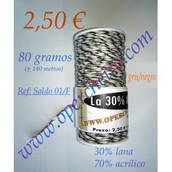 lana 30% - acrílico 70% Ref...