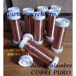 Hilo metálico cobre puro