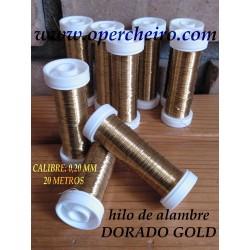 Hilo metálico dorado gold