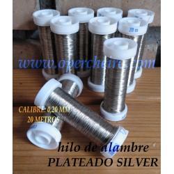 Hilo metálico plateado silver