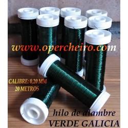 Hilo metálico verde Galicia