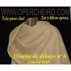 Tela para chal crema 063/3...