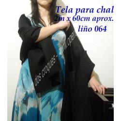 Tela para chal negro 064/2