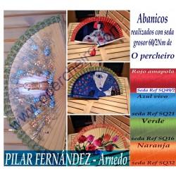 Abanicos en seda de Pilar...