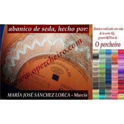 Abanico de seda de María...
