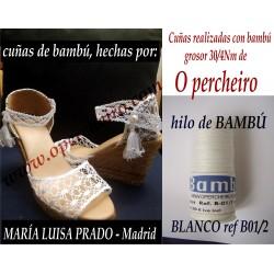 Cuñas de bambú de María...