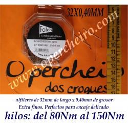 32mm x 0,40mm extra finos