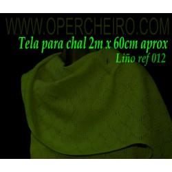 Tela para chal verde 012/3...