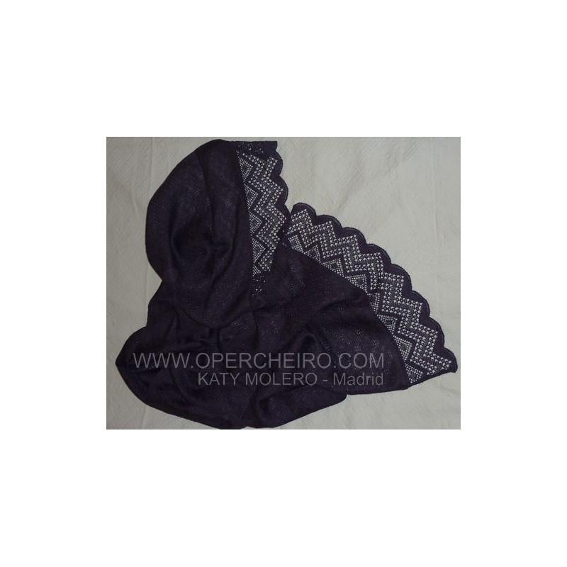 Chal de liño negro ref 064