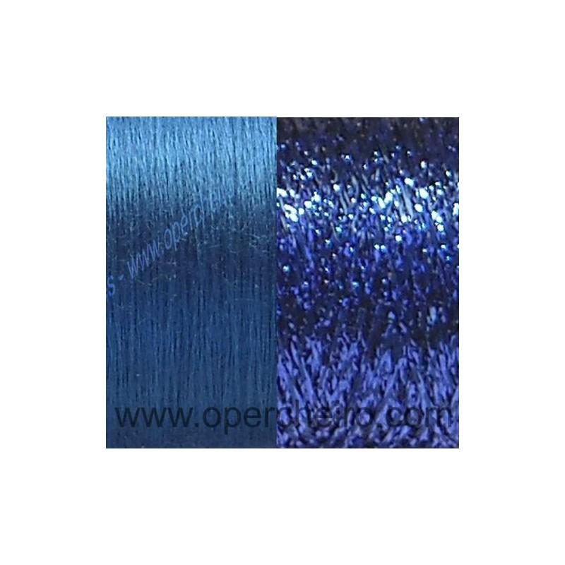 A Kit rosa seda azul