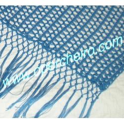 Chal de bambú azul