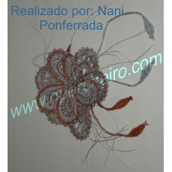 Flor de liño ref 027
